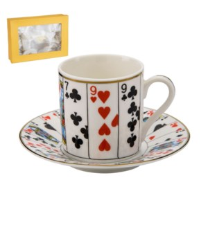 Coffee Cup and Saucer 6 by 6, 3.5oz, New Bone China with 2mm 643700280022