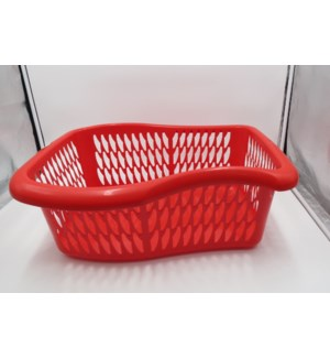 Laundry Basket Plastic 21.5x15.5x8.5in Red                   643700251145