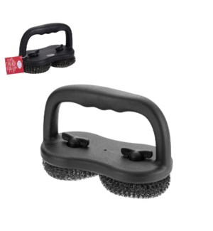 2 in 1 Scrubber SS 7.5x4x5in with PP Handle                  643700311849