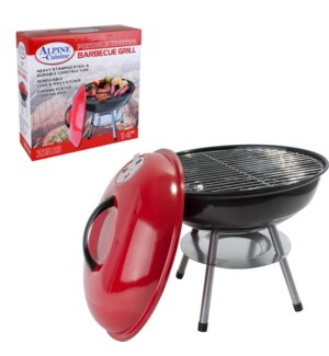 BBQ Grill Round 14x15in Red color                            643700114006