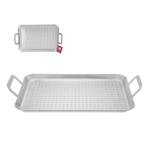 BBQ Grill Pan 17x10x2in Satin Finshed                        643700311955