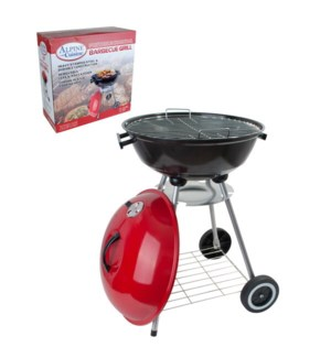 BBQ Grill Round 18x31in Red color                            643700113993