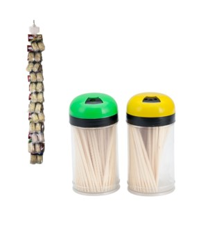 Bamboo Tooth Picks 2.5in 100 pcs in PVC jar, 2               643700239846