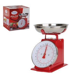 Kitchen Scale 22lbs SS Red                                   659553104941