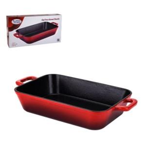 Cast Iron Enamel Roaster 13x8.5in                            643700264855