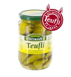 Dittmann Green Peperoncini Stuffed with Cream Cheese 23oz 65 400223964820