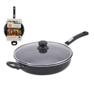 HB 11in Aluminum covered saute pan, 3.0mm, black, Nonstick i 643700229076