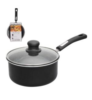 HB 3QT Aluminum covered sauce pan, 3.0mm, black, Nonstick in 643700285102