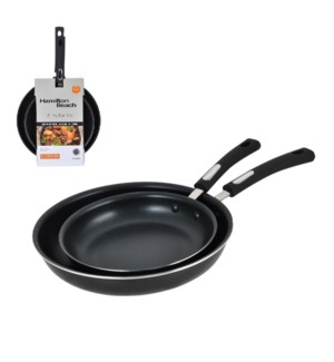 HB Fry pan 2pc set Aluminum 9.5in, 12in Nonstick Coating, So 643700244475