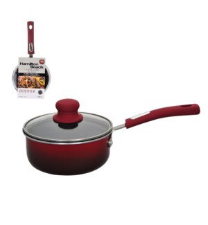 HB Sauce Pan Aluminum1.5Qt Nonstick Coating with Glass Lid,  643700260895