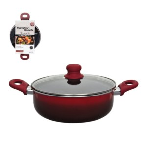 HB Low Pot Aluminum10in Nonstick Coating with Glass Lid, Sof 643700267542