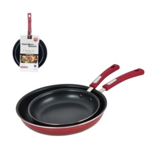 HB 2pc Alum. fry pan set, 3.0mm, 8.5in and 11in, gradient re 643700229120