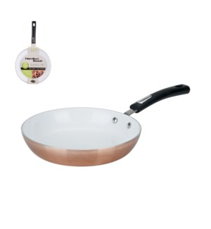 HB 8in aluminum fry pan, copper, white ceramic Nonstick, rev 643700243959