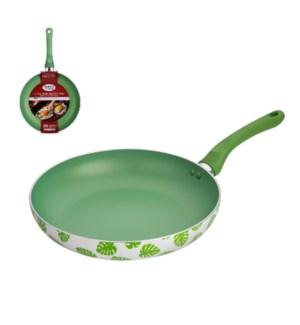 Fry Pan 10in Alum. Green Nonstick Coating,Green Decal Painti 643700292964