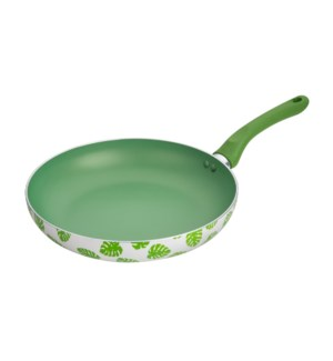 Fry Pan 11in Alum. Green Nonstick Coating,Green Decal Painti 643700292971