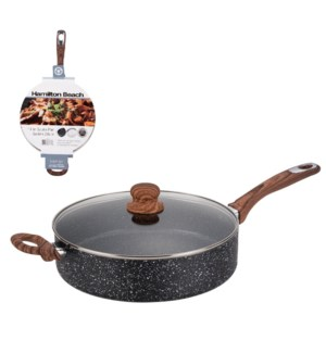 Hamilton Beach Saute Pan Alum. 11in,Nonstick with Marble Coa 643700308733
