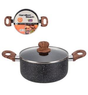 Hamilton Beach Dutch Oven Alum. 3Qt,Nonstick with Marble Coa 643700308757