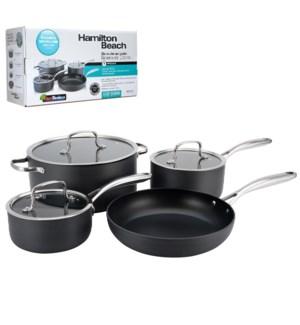 HB 7pc hard anodized cookware set, Quantanium PFOA free 3 la 643700228468