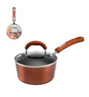 HB Sauce Pan Alum 1.2Qt Whitford Xylan Nonstick Coating,Copp 643700273017