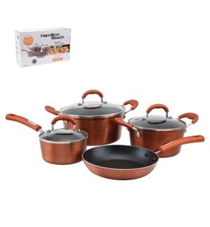 HB Cookware 7pc Set Aluminum Whitford Xylan Nonstick Coating 643700254955