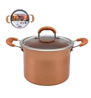 HB Stock Pot Aluminum6.8Qt Whitford Fusion Copper Ceramic Co 643700273093
