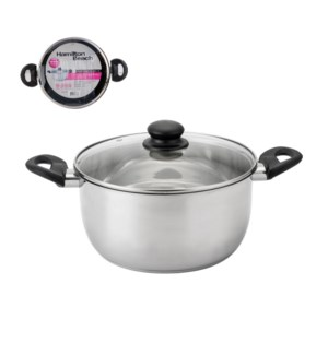 HB Dutch Oven SS 5Qt Bakelite Handle with Glass Lid          643700273833