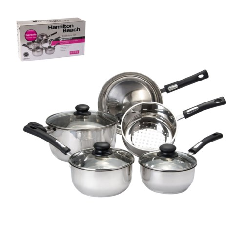 HB Cookware 8pc Set SS Bakelite Handle, Capsulated Bottom    643700256515