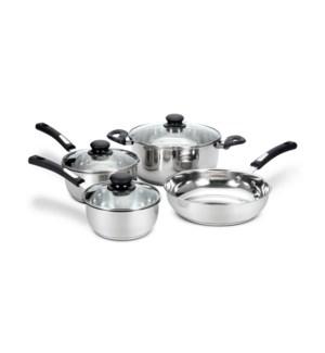 HB Stainless Steel Cookware 7pc Set Bakelite Handle Inductio 643700358493