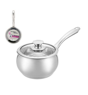 Hamilton Beach Sauce Pan SS 2Qt with Glass Lid               643700301628