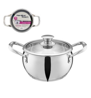 Hamilton Beach Dutch Oven SS 4Qt with Glass Lid              643700301642