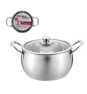 Hamilton Beach Dutch Oven SS 7Qt with Glass Lid              643700301659