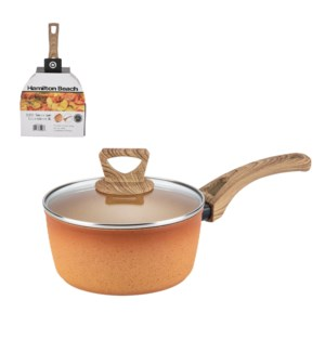HB Forged Alum Sauce Pan 2.8Qt Terracotta Nonstick Coating a 643700324283