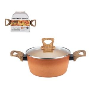 HB Forged Alum Dutch Oven 2.8Qt Terracotta Nonstick Coating  643700324290