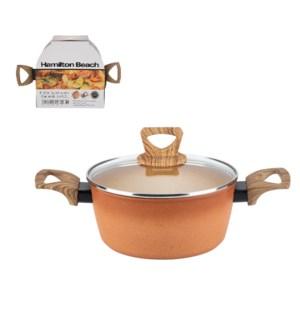 HB Forged Alum Dutch Oven 4.4Qt Terracotta Nonstick Coating  643700324313