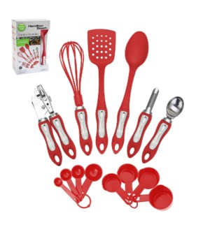 Hamilton Beach 14pc set tool and gadget set, soft touch hand 643700255501