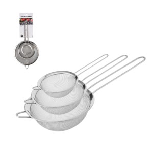 Hamilton Beach Strainer 3pc Set SS 3in, 5.5in, 8in           643700287274