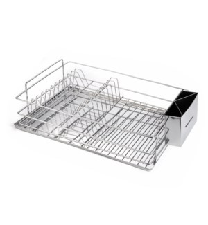 Hamilton Beach Dish Rack SS 20in x12.5in x5.5in with SS Tray 643700290908