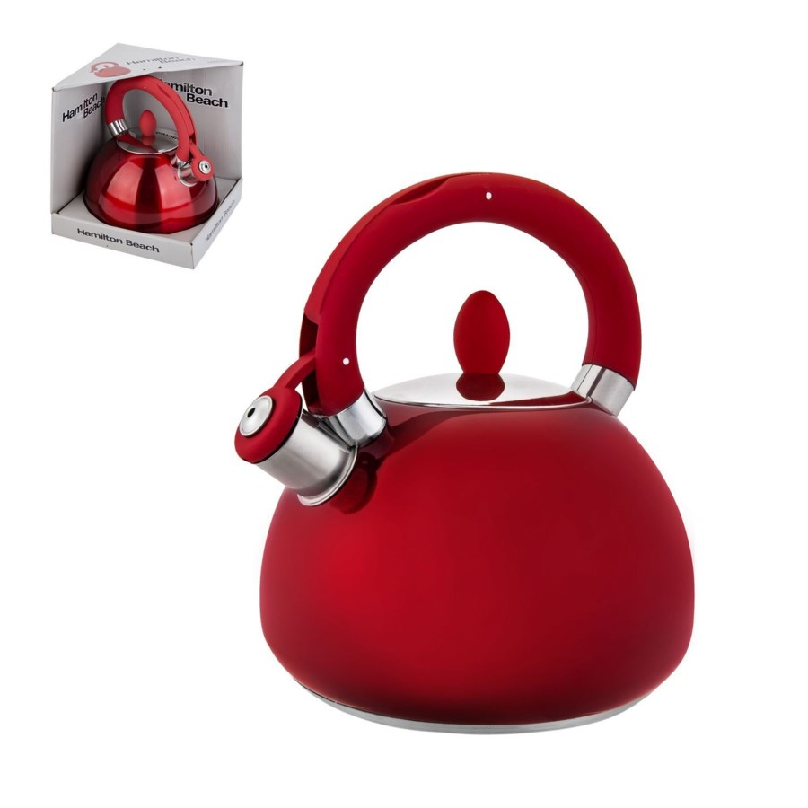 Hamilton Beach Tea Kettle SS 3L Whistling with Soft Touch Ha 643700255204