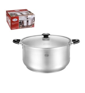Low Pot SS 26Qt with Glass Lid                               643700286932