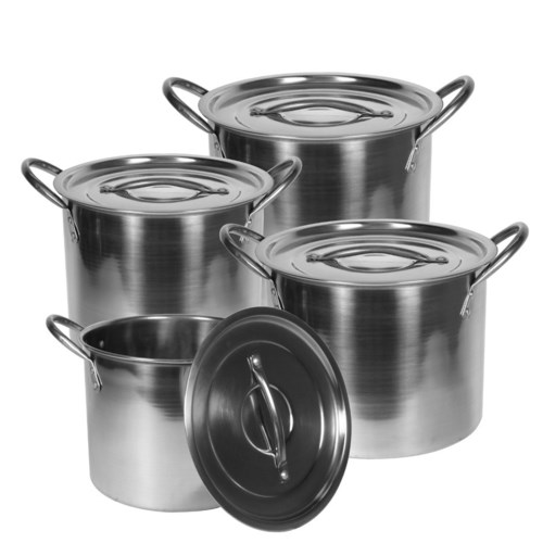 Stock Pot 8pc Set SS, 6.5, 9, 12, 16Qt                       643700144379