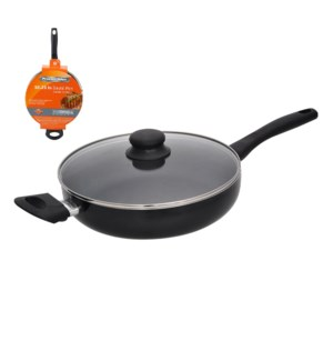 PS 10.25in covered sause pan, 2.2mm, black, Nonstick interio 643700225504