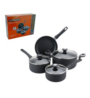 PS 7pc set aluminum cookware set, textured matt black exteri 643700230744