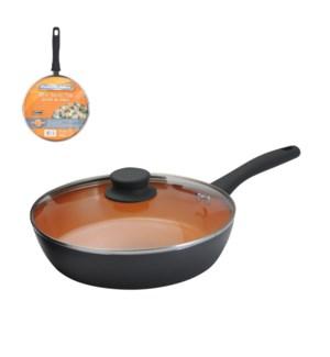 PS Saute Pan Alum 10in Whitform Fusion Orange Ceramic Coatin 643700273406