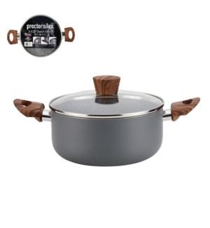 PS Dutch Oven Alum. 4Qt Gray Marble Nonstick Coating,Matt Gr 643700303073