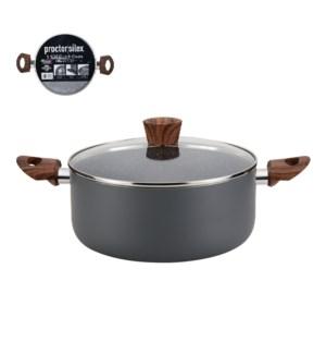 PS Dutch Oven Alum. 5.5Qt Gray Marble Nonstick Coating,Matt  643700303080