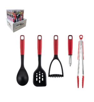 Hamilton Beach Gadget and Utensil 5pc Set Nylon and Stainles 643700311030