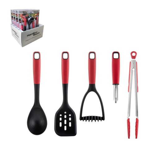 Hamilton Beach Gadget And Utensil 5pc Set Nylon And Stainles 643700311030 Hb Gadget Sets Aramco Imports Inc