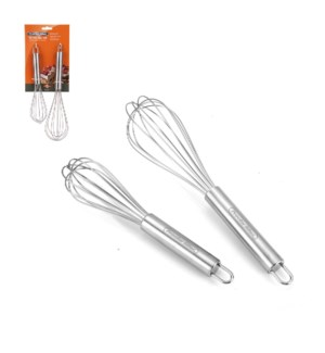Proctor Silex Whisk 2pc set SS 10in, 8in                     643700255426