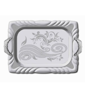 """Serving Tray 2pc set 18""""+14"""" Rectangular Silver Plated       64370022703"""
