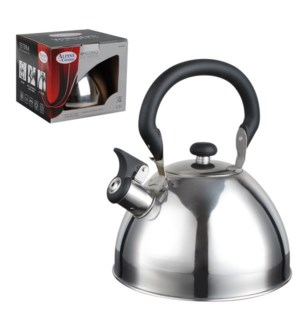 Tea Kettle. 2.5L Whistling. SS, Bakelite handle              643700162892